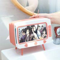 Tissue Boxes & Napkins Cute Box Storage Creative TV Desktop Paper Holder Multifunctional Pumping Phone Napkin Case Organizer