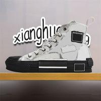 En Kaliteli Lüks Tasarımcılar Rahat Ayakkabılar B23 Eğik Teknoloji Tuval B22 B24 19ss Çiçekler Platformu Açık Vintage Sneakers