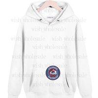 Colorado Avalanche Tees Корейская версия с капюшоном свитер класса одежда свободно падение плеча пуловерное пальто пользовательских напечатанных 5XL логотип