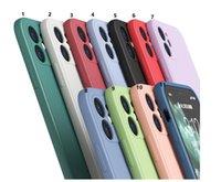 Силиконовый чехол для телефона для iPhone 12 Pro Max 11 XR X XS 7 8 плюс Samsung Galaxy S21 S20 PLUS Ultra Note 20 ударопрочный резиновый жидкий защитный чехол