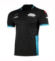 2021 Özel Logo Ortak F1 Takım Fabrika Üniforma Hızlı Kuruyan Yarış T-shirt Rider Motosiklet Sürme Kısa Kollu Saha Tulum
