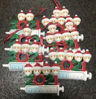 2021 عيد الميلاد الديكور الحجرية الحلي الأسرة من 1-7 رؤساء diy شجرة قلادة اكسسوارات مع راتنج حبل في المخزون