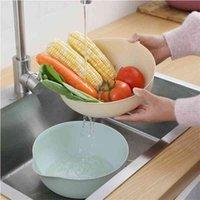 الشمال المنزل العملي طبقة مزدوجة الصرف المطبخ غسل سكين شوكة نمط سلة الفاكهة والخضروات