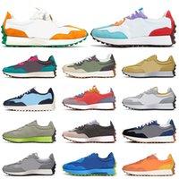 Оптовая продажа 2021 баланс 327 для мужской женской беговой обуви замка рок яркий апельсин неоновые подошвы ВМС белый дышащий открытый теннис кроссовки