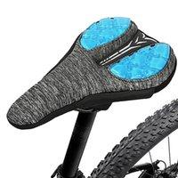 دراجة السروج دراجة السرج سيليكون سميكة لينة الراحة مقعد غطاء لبلية الطريق وسادة الهواء وسادة في الهواء الطلق لوازم الدراجات