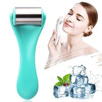 Stainless Steel Ice Roller Massager Face Skin Care Tool Cooling Massage Facial Lift Firming Eye Body Relief Fatigue Anti Cellulite