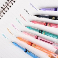 Gel Pens Genvana 7Pcs Liquid Ink Pen 0.5mm Needle Point Fine Roller Ball Office School Stationery Supplies
