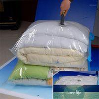 Sacs à vide à la maison Sacs sous vide Durable Vêtements Transparent Quilt Sac de rangement Pliage Vacuum Organisateur Compressé Travel Joint Sac