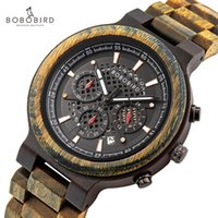 Erkekler için Bobo Kuş Ahşap İzle Kronometre Ahşap erkek Saatler Oto Tarihi Adam Erkek 2021 Kuvars Saatler Orologio Uomo Saatı