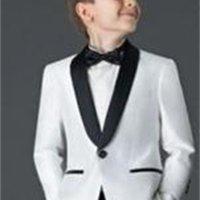 Men's Suits & Blazers 2021 Style boys suits for weddings Children Suit Black White Kid Wedding Prom blazers (Jacket+Pants+Tie ) FM