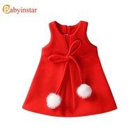 Vestidos da menina Babyinstar Menina Vermelha Princesa Bebê Curva para Meninas Bonito Vestido Crianças Traje Tutu Crianças Roupas 0922