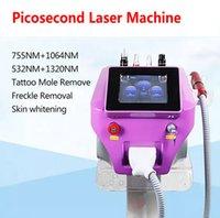 Pico Picosecond Lazer Taşınabilir Q Anahtarı ND YAG Dövme Temizleme Makinesi Domuzlama Spot Romover Güzellik Ekipmanları