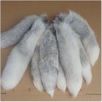 New Women's Bag Charm Cauda Keychain Longo Fox Fur Cauda Bolsa Trinket Acessórios Pingente Felry Charme para sacos Carro Chaveiro 210409