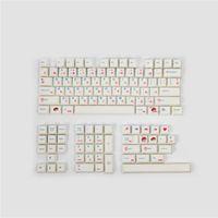 Keyboard Mouse Combos PBT Keycaps Japanese Cherry Profile Mechanical Keycap Full Sets DYE Subbed With 7U Spacebar 1.75U 2U Shift Keys