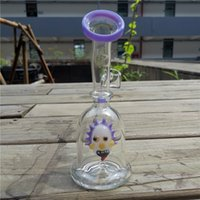 7.5 inches reclycer dab rigs hookah Rick perc glass smoking water pipe with 14mm quartz bannger mini waterpipe bongs bubbler