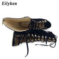 Eillken Sexy цепи веревка сандалии стягивая высокий каблук гладиатор сандалии женщины зашнуруют на лодыжку ремень женские туфли платье обувь 12см был 33221