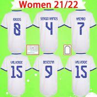 Donne maglie da calcio Ladies Camiseta 2021 2022 Real Madrid Maillots de Football Shirts Grils 21 22 Casa Away Terzo quarto Benzema Hazard Sergio Ramos Kroos Uniformi
