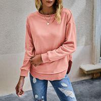 Women's T-Shirt 2021 Long Sleeve T Shirt Autumn Winter Tee Tops Clothing Fashion Womens Pure Color Tshirt Femme Camiseta