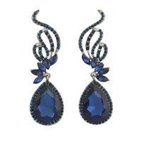 Bridal Wedding Earrings Silver Top Quality Teardrop Austrian Crystal Butterfly For Women Year Gift Fashion Jewelry Dangle & Chandelier