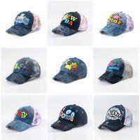 Fashion Boys Embroidery Cowboy Hat Mesh Baseball Cap Kids Adjustable Summer Casual Baby Girls Sunhat Cool Cute Outdoor Sports School Sun Caps