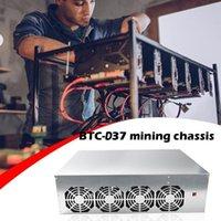 Pads de refroidissement pour ordinateur portable Mineur Case Set BTC-D37 Châssis Motherboard 8 Slots DDR SSD Mining Machine Machine avec 4 fans pour Eth Ethereum DD