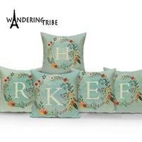 Cojín / almohada decorativa Cubierta nórdica Decoración Breve Kissen English letras Cojines Decorativos Casos de la sala de estar de la sala de estar de doble cara