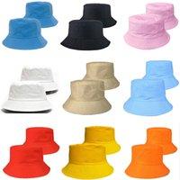 Seyahat Balıkçı Eğlence Kova Şapka Katı Renk Moda Erkekler Kadınlar Düz En Geniş Brim Yaz Kap Açık Spor Visor DB877 BD0042 için