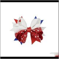مقاطع أطفال العلم الأمريكي طباعة المشابك أزياء الأطفال الرابع من يوليو القوس كليب لطيف فتاة swellowtail دبابيس الشعر اكسسوارات للشعر 186 U2 ناجو 8