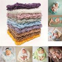 Born Pography Props Blanket Crochet Baby Po Shoot Basket Accessories Studio Blankets & Swaddling