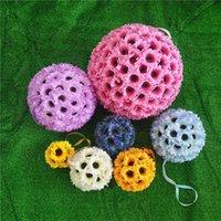 Simulation Tournesol Soie artificielle Fleur Ballon Mariage Daisy Salon Salons Décorations Embrasser Boules de boules Ruban Fleurs décoratives sans fil