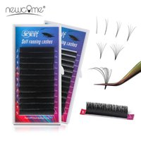 False Eyelashes COME 1's Bloom Eyelash Extension Auto Fans Volume Easy Fanning Lashes High Quality Natural Soft Makeup Tool