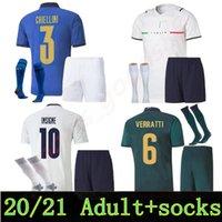 2021 Erwachsene Kits Männer Italien Fussball Jerseys 20 21 Zaza de Rossi Bonucci Verratti Football Shirt