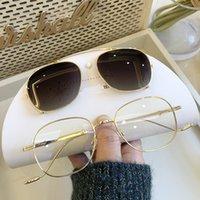 Sonnenbrille 2 in 1 polarisierte Clip auf 2021 Mode braune Töne Luxus Designer Optische magnetische Sonnenbrille Frame Frauen Männer UV400