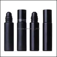 Packing Office School Business & Industrial10Ml Black Essential Oil Bottle Glass Roll On Per Crystal Roller Ball Bottles Drop Delivery 2021