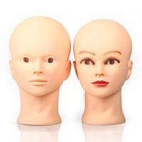 Eski Sokak Profesyonel Kozmetoloji Kel Manken Kafa Manken Modeli Bebek Kafası Makyaj için Kelepçe Tpins ile Peruk Yapma