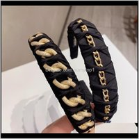Yoga Cruz Chain Cabelo Adorável Bow Cabeça Bandas de Ouro Charme Hairband Meninas Ampla Fashion Headband Headwrap 426 x2 5QW0W Dyakr
