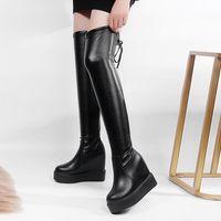 Boots Sexy Thigh High Women Heighten Platform Heels Fashion Warm Winter Shoes Brand Design Over The Knee 2021