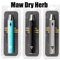 MAW 1300mah Kit Dry Herb Vaporizer Kits E Cigarette Integrated Vape Pen Battery 6 Colors Bottom Charge Blister Package