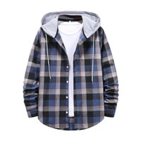 Men's Jackets Autumn&Winter Plaid Print Stitching Long Sleeved Casual Windbreaker Zipper Hoodies Streetwear Jacket Top