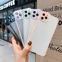 Mobile Phone Cases Wholesales Hybrid 2 In 1 Transparent Hard Matte PC TPU Frame Anti Shock Back Cover For Samsung A21 A31 etc Phone Case