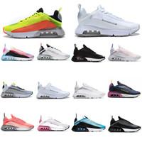 2021 Мужчины Женщины 2090 Беговые Обувь Чистый Платиновый Тройной Черный Белый Лазер Синие Мужские Тренеры Чауссуры Спортивные кроссовки Размер 36-45