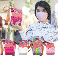 Fidget Toys Strawberry Pineapple Kawaii Sensory Toy To Relieve Autism Cute Messenger Bag Backpack Pendant
