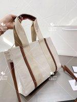 Дизайнерская сумка изысканная изысканная теленка кожа и хлопчатобумажный холст умный швы модный джокер простая практичная супер емкость путешествия необходима