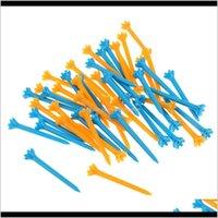Sports en plein air Drop Livraison 2021 50 PCS Tees de golf en plastique professionnel pour intérieur extérieur - bleu, jaune 3jsbi