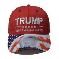2020 Trump Baseball Cap Cotton Adjustable President Election Campaign Sun Protection Cap Unisex Printed Eagle Fashion Hats VT1425