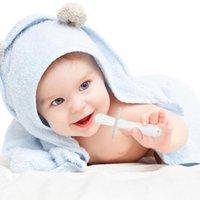 Silikon Dişlik Oyuncak Dişler Için Bebek Bebek Güvenli Molar Diş Fırçası Sopa Toddler Çiğnence Isırık Teether Oyuncak Diş Bakımı Fırçası