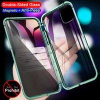 360 Полная защита Магнитные чехлы для iPhone 11 12 PRO XS MAX XR 7 8 6S PLUS SE двухсторонний стеклянный металл Адсорбция Корпус конфиденциальности
