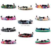 Simple Wax Rope Bracelet Multicolor Rainbow Adjustable Bracelets Bangle Cuff wrap for Men Women Fashion Jewelry Will and Sandy