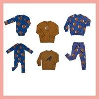 Детские свитера Carlijnq Совершенно новая осень зима мальчиков девушки птица печать кофты детские дочерние детские модные варианты одежды вершины 201222 637 y2