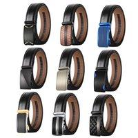Belts Plyesxale Fashion Men High Quality Genuine Leather Belt Luxury Designer Automatic Buckle Strap Male Black Cintos B623